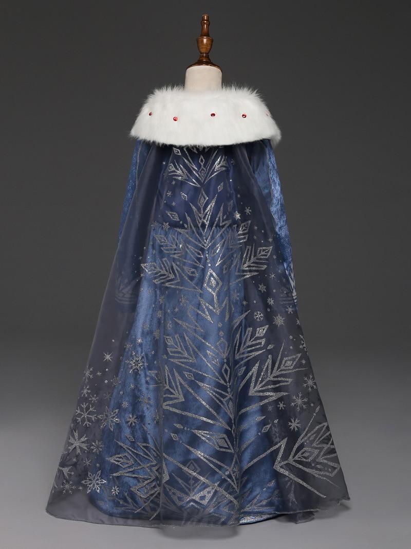 Costume Reine des Neiges enfant vu de dos