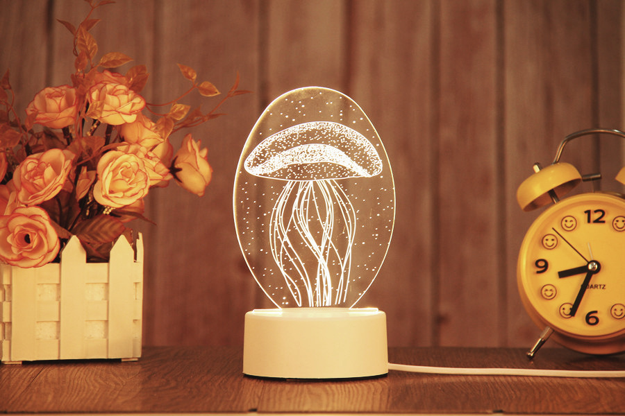 Veilleuse design LED chambre enfant - Méduse