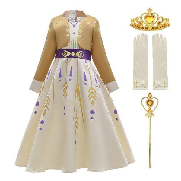 Déguisement Anna La Reine des neiges 2 avec accessoires