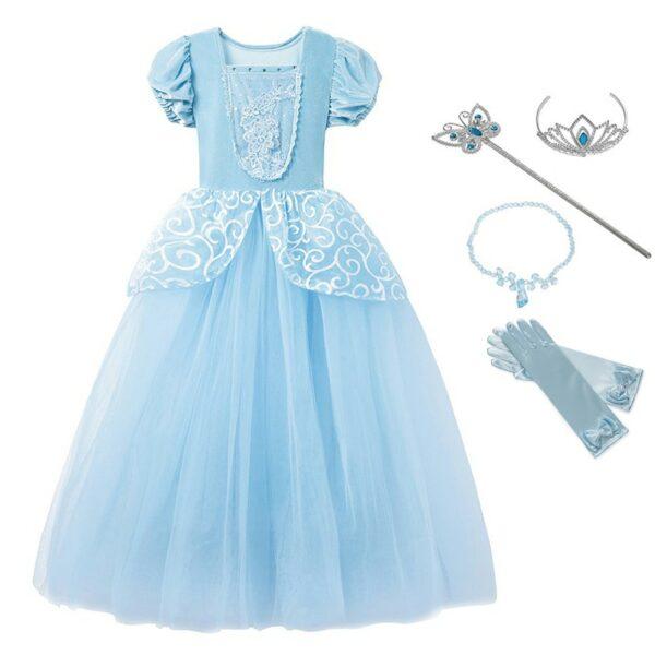 Robe Cendrillon avec accessoires - Déguisement pour fille