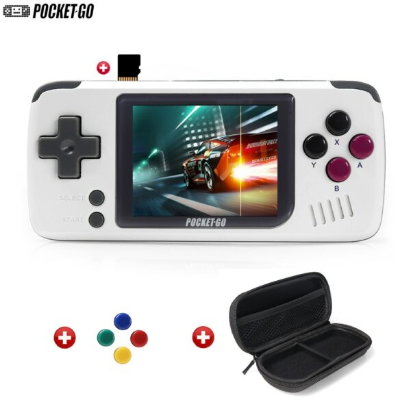Console de jeux retro gaming PocketGo - Carte micro SD 32Go avec housse de protection
