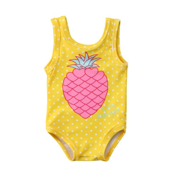 Maillot de bain une pièce fille ananas