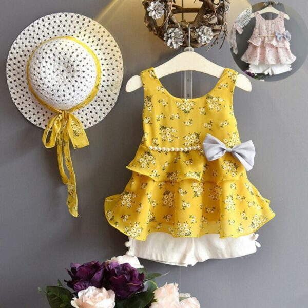 Ensemble fille pour l'été - Robe jaune