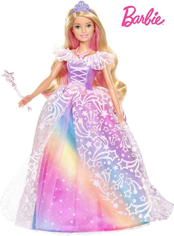 Barbie Dreamtopia poupée Princesse de Rêves avec robe brillante à motifs arc-en-ciel