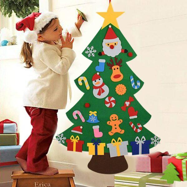 Sapin de Noël feutrine à décorer (avec pièces à coller)