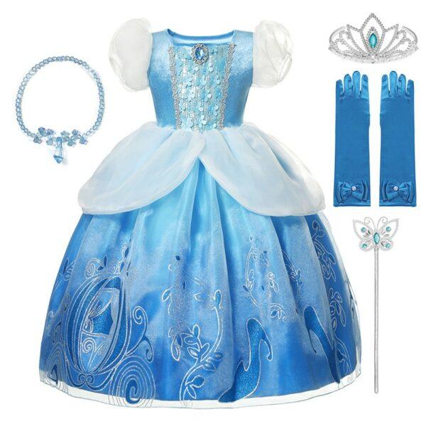 Déguisement Cendrillon pour enfant - Robe de princesse