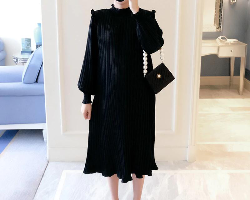 Robe grossesse mousseline couleur noire